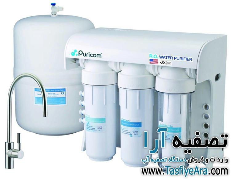 تعویض فیلتر تصفیه آب پیوریکام